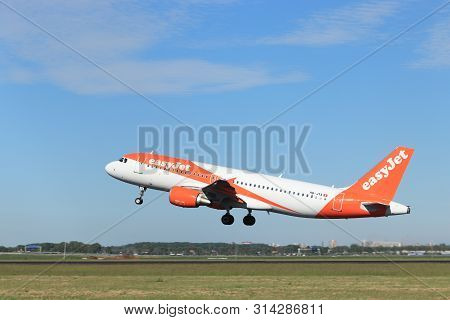 Amsterdam The Netherlands - May 24th, 2019: Hb-jya Easyjet Switzerland Airbus A320-200 Takeoff From