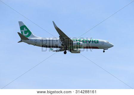 Amsterdam, The Netherlands - July 21st 2019: Ph-hxd Transavia Boeing 737-800 On Final Approach To Am