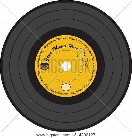 Vinyl Record With Label Of Vinyl Record Day
