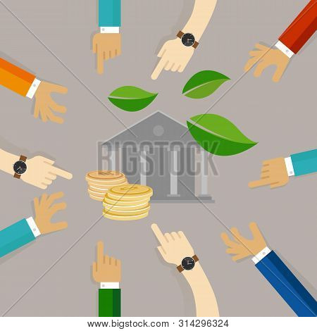 Corporate Ecology Coins Green Business Business Ethics Good Governance