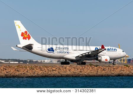 Sydney, Australia - October 10, 2013: Air Caledonie International (aircalin) Airbus A330 Airliner F-