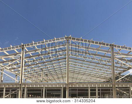 Metal Frame Of Prefabricated Multi-storey Industrial Building