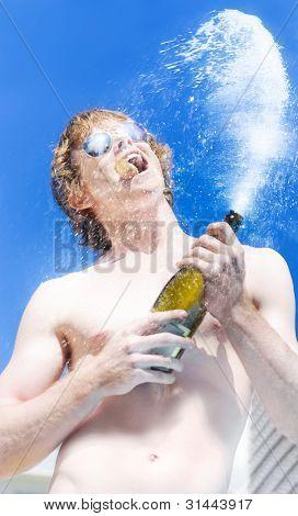 Exploding Champagne Spray