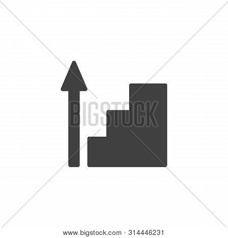 Career Ladder Vector Icon. Upstairs Filled Flat Sign For Mobile Concept And Web Design. Stairway Up