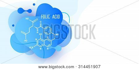 Liquid Color Abstract Geometric Shape Design Elements With Folic Acid. Abstract Liquid Background. F