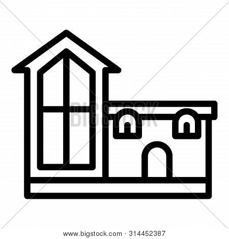Unusual House Icon. Outline Unusual House Vector Icon For Web Design Isolated On White Background