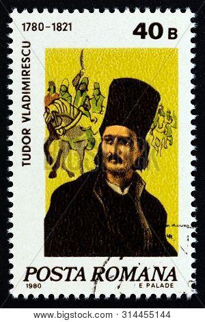 Romania - Circa 1980: A Stamp Printed In Romania Shows Revolutionary Hero Tudor Vladimirescu (1780-1
