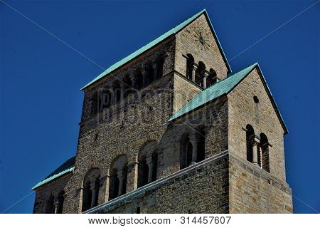Upper Part Of The Tower Of Hildesheim Cathedral