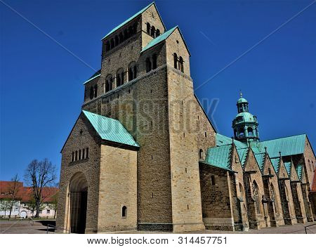 Unesco World Cultural Heritage Cathedral Of The Assumption Of Mary In Hildesheim, Germany
