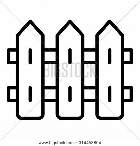Village Fence Illage Fence Icon. Outline Village Fence Vector Icon For Web Design Isolated On White