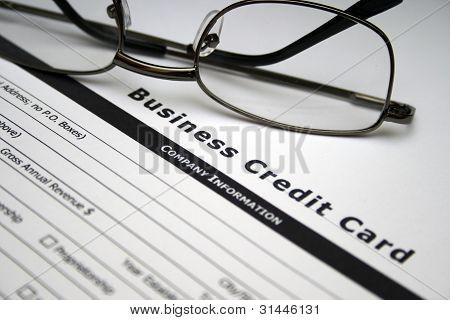 Biznes karty kredytowej aplikacji