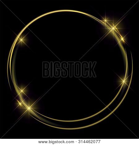 Golden Lights And Rings For Dark Backgrounds