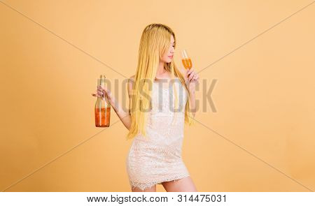 wedding and birthday toast. sexy woman drink alcohol. hangover. Party celebration. Bad habit. wine bottle and glass. Hard drink. Sommelier woman at work. Drinking brandy. Lifestyle addiction poster