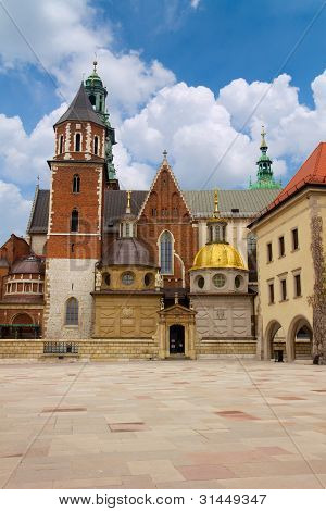 Wawel Cathedral, the part of Wawel Castle complex in Krakow, Poland poster