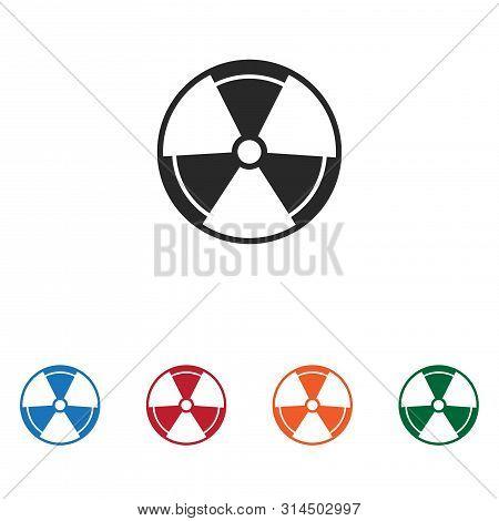 Radiation Icon Isolated On White Background. Radiation Icon In Trendy Design Style. Radiation Vector