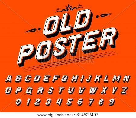 Pop Art Font For Posters. Comic Retro Game Alphabet. Vintage Old Futuristic 80 S Typeface, Editable