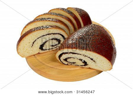 Slice And Half Poppy Seed Roll