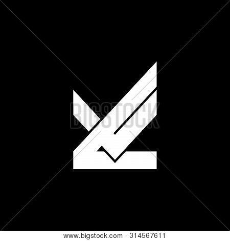 Letter Lv Simple Geometric Logo Vector Unique Unusual Luxury Elagant Design Concept