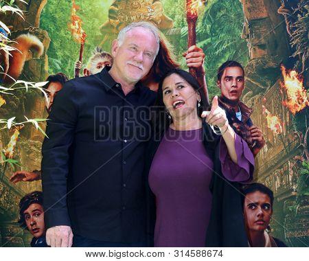 LOS ANGELES - JUL 28:  John Debney, Germaine Franco at the