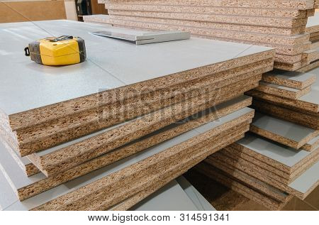 board chipboard cut parts for furniture production poster