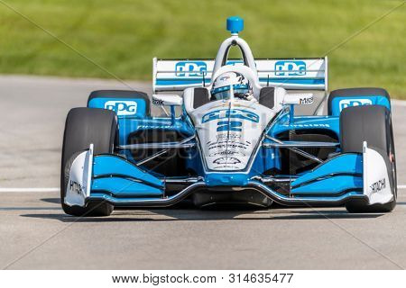 July 26, 2019 - Lexington, Ohio, USA: JOSEF NEWGARDEN (2) of the United States  practices for the Honda Indy 200 at Mid Ohio at Mid-Ohio Sports Car Course in Lexington, Ohio.