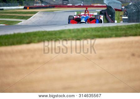 July 26, 2019 - Lexington, Ohio, USA: MATHEUS LEIST (4) of Brazil  prepares to practice for the Honda Indy 200 at Mid Ohio at Mid-Ohio Sports Car Course in Lexington, Ohio.