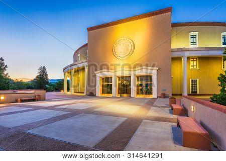 Santa Fe, New Mexico, USA at New Mexico State Capitol.