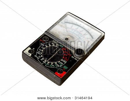 this is volt meter isolated on white background