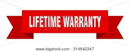 Lifetime Warranty Ribbon. Lifetime Warranty Isolated Sign. Lifetime Warranty Banner