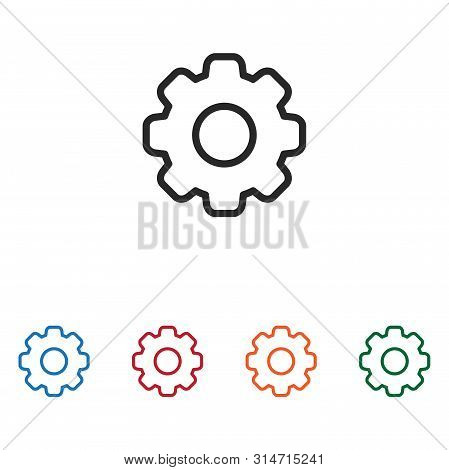 Setting Icon Isolated On White Background. Setting Icon In Trendy Design Style. Setting Vector Icon