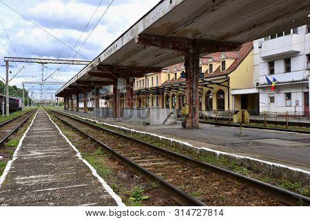 Sighisoara, Transylvania; Partial View Of Local Train Station
