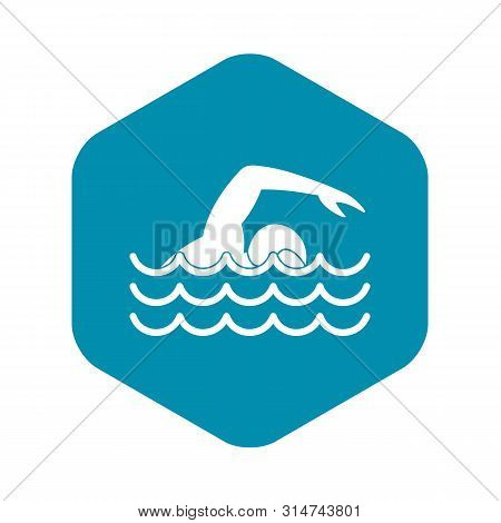Swimmer Icon. Simple Illustration Of Swimmer Vector Icon For Web