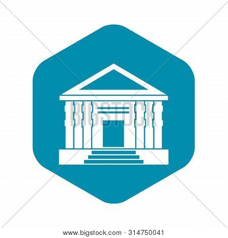Colonnade Icon. Simple Illustration Of Colonnade Vector Icon For Web