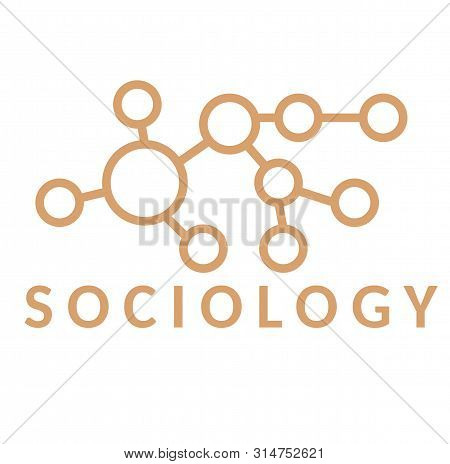 Sociology Sign On White Background. Badges And Stamps Series.