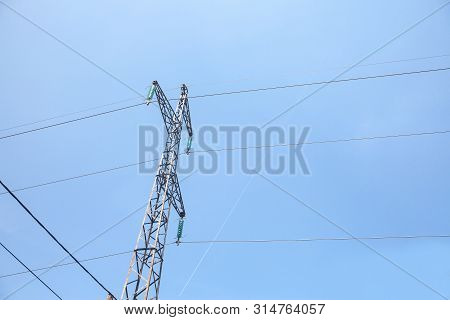 Transmission Towers, Pylons, Power Towers, Adapted For High Voltage Electricity Transportation And D