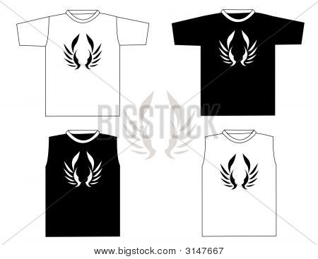 Beautiful vector t-shirt design illustration on white background poster