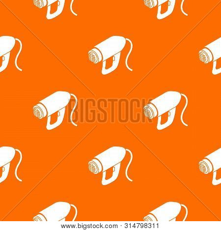 Heat power tool pattern vector orange for any web design best poster
