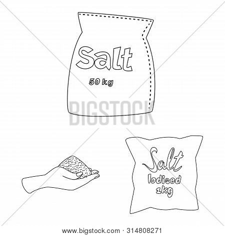 Isolated Object Of Sodium And Mineral Logo. Set Of Sodium And Kitchen Vector Icon For Stock.