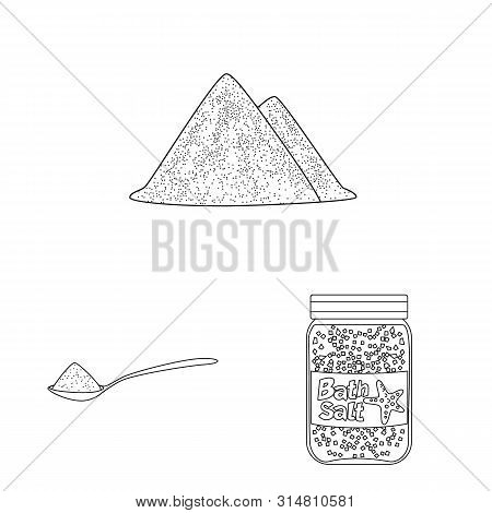 Vector Illustration Of Sodium And Mineral Sign. Set Of Sodium And Kitchen Vector Icon For Stock.