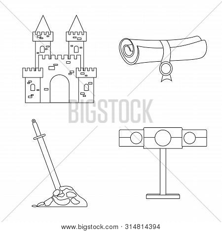 Vector Design Of Heritage And Ancient Symbol. Collection Of Heritage And Tournament Stock Vector Ill