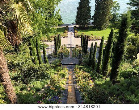 Landschape Of The Italian Floral Water Cascade Or Italienische Blumen-wassertreppe (flower Island Ma