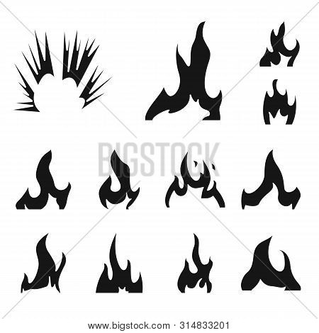Vector Illustration Of Blazing And Wildfire Logo. Set Of Blazing And Red Stock Vector Illustration.