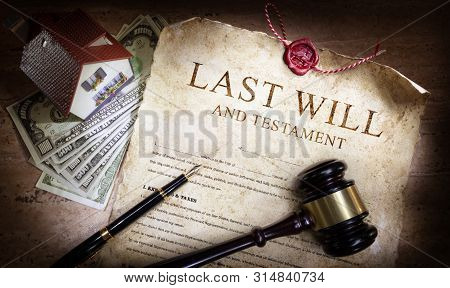Last Will And Testament With Money And Planning Of Inheritance