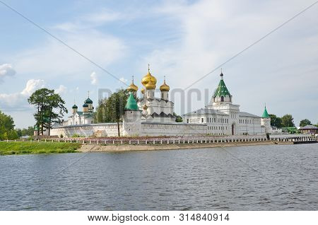 Holy Trinity Ipatievsky Male Monastery On Kostroma River In Old Russian City Kostroma, Yaroslavl Reg