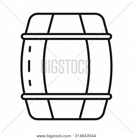 Isolated Object Of Cask And Wine Symbol. Set Of Cask And Wooden Vector Icon For Stock.