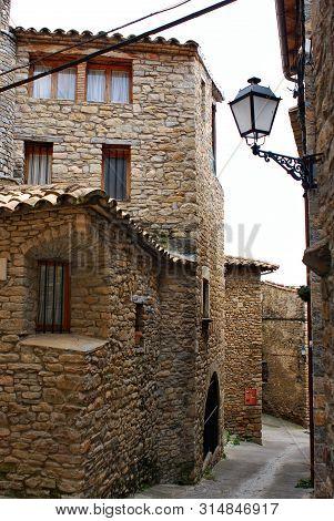 Pyrenees Mountains, Ainsa, Spain, Architecture , Stone Houses