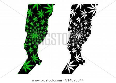 Santa Fe (region Of Argentina, Argentine Republic, Provinces Of Argentina) Map Is Designed Cannabis