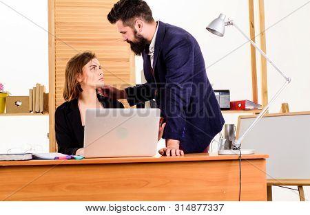 Boss Unacceptable Behavior Subordinate Employee. Addressing Workplace Sexual Harassment. Sexual Assa