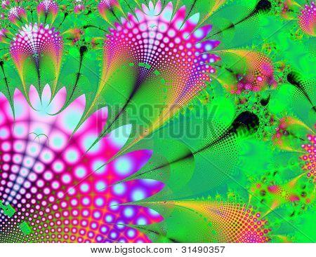 Pink flower fractal