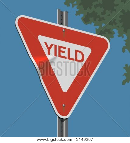 Road Sign; Yield